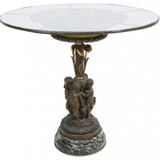 Classical Bronze and Ormolu Side Table
