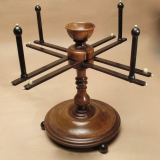 Turned Mahogany Wool Winder Continental Circa 1850