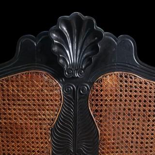 19TH CENTURY CEYLONESE SOLID EBONY SOFA