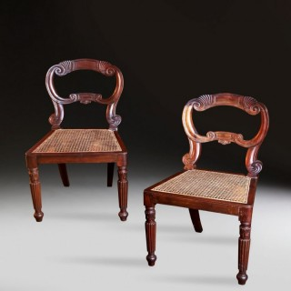 PAIR OF SOUTH INDIAN 19TH CENTURY SIDE CHAIRS