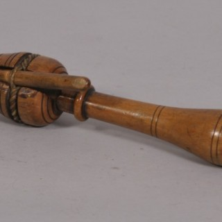 Antique Treen 19th Century Boxwood Clicker or Clicket