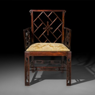 Pair of George III Chinoiserie Armchairs, to a design byMayhew & Ince
