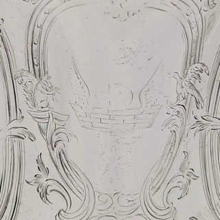 Antique Early Victorian Sterling Silver Jug 1844