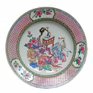 Yongzheng famille Rose eggshell porcelain Plate