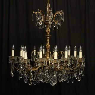 Italian Gilded Bronze 16 Light Antique Chandelier
