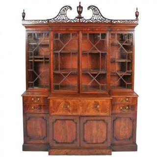 Chippendale Period Break Front Bookcase
