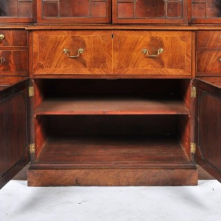 Chippendale Period Break Front Bookcase