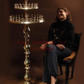 A Spectacular Rare Large Eastern Europe Brass Standing Candelabra For Wax Candles 18th/19th Century
