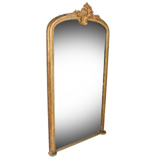 Large Victorian Gilded Pier Glass