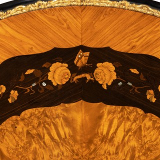 Exceptional 19th Century Marquetry Centre Table Attributed to Edward Holmes Baldock.