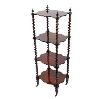 Victorian Four Tier Rosewood Whatnot