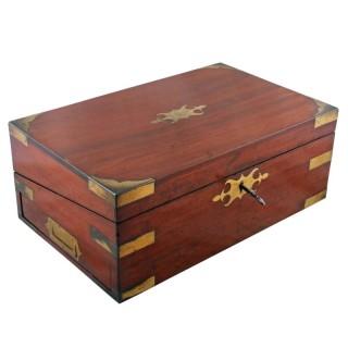19th Century Brass Bound Box Desk