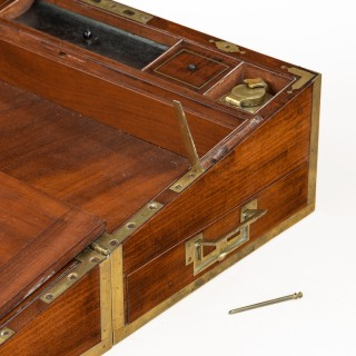 A Regency brass-bound mahogany writing slope by Hicks of London