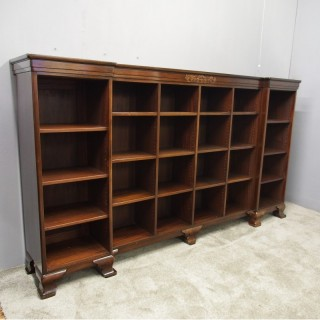 Large Mahogany Bookcase by Whytock and Reid