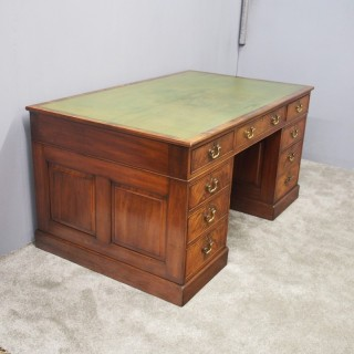 Georgian Style Mahogany Partners Desk