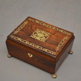 Regency Rosewood Jewellery Box