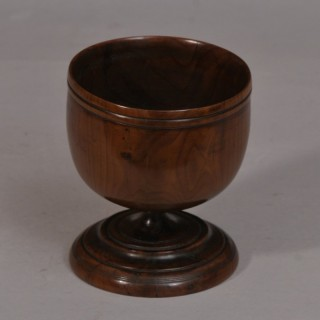 Antique Treen 18th Century Yew Wood Goblet