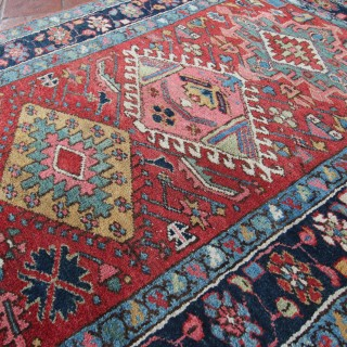 Long Antique Heriz runner