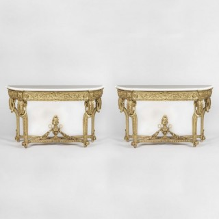 A Fine Pair of Console Tables in the Louis XV Manner