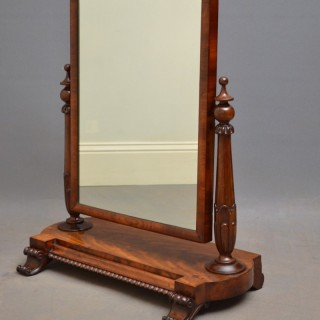 William IV Mahogany Dressing Table Mirror