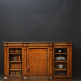 Victorian Walnut Low Bookcase
