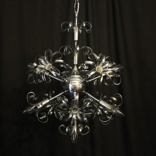 Italian Chrome 11 light Sputnick chandelier