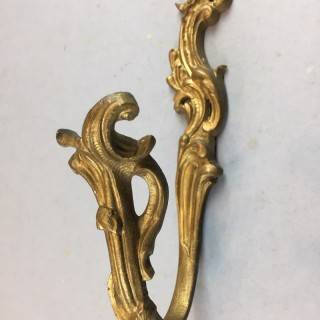 Pair of Antique gilded brass Curtain tie-backs