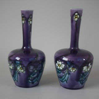 Pair Minton Secessionist Purple No.33 Vases