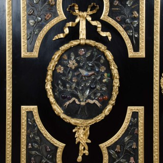 Large Pietra-Dura Cabinet, 19th Century