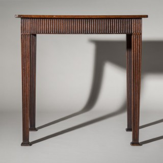 George III Adam Period Fluted Lamp Table
