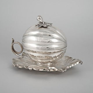 RUSSIAN SILVER SUGAR BOWL
