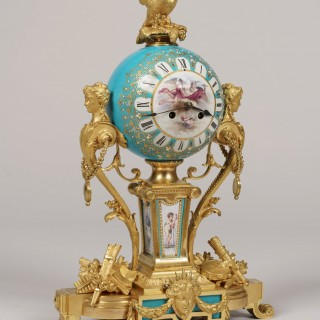 A Fine Mantle Clock in the Louis XVI Manner