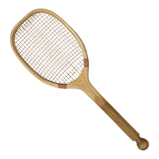 Antique Bussey Ball Tail Tennis Racket