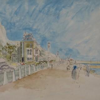 John Sergeant - Dover Promenade - watercolour