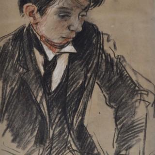 John Sergeant - Boy in a Wing Collar - chalks