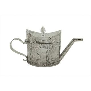 Antique Victorian Sterling Silver Miniature Teapot 1890