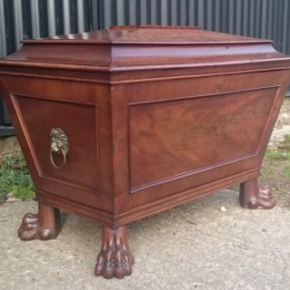 Early Nineteenth Century Regency Mahogany Antique Wine Cooler