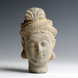 Gandhara Stone Head of Buddha Siddhartha