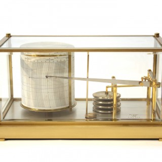 French Brass Barograph
