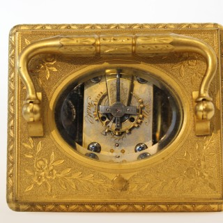 Quarter striking Champleve enamel Carriage clock