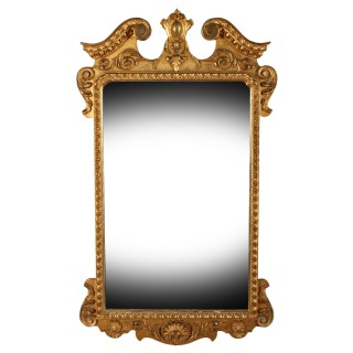 George II Style Gilt Wall Mirror
