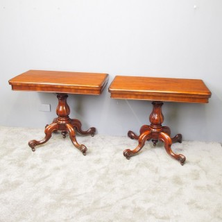 Pair of Victorian Mahogany Card Tables