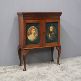 Mahogany Cabinet with Portrait Doors