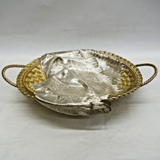Antique Russian Silver Trompe l'Oeil Basket