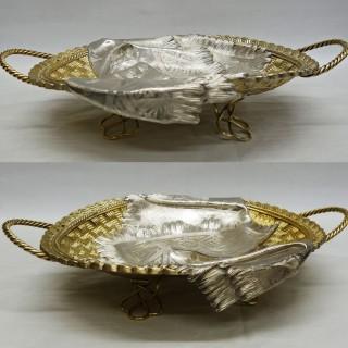 Antique Russian Silver Trompe l'Oeil Basket