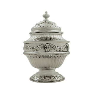 Antique Victorian Sterling Silver Caddy 1899