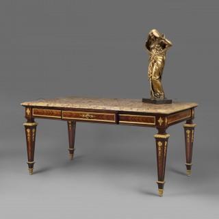 A Louis XVI Style Gilt-Bronze Mounted Bureau Plat