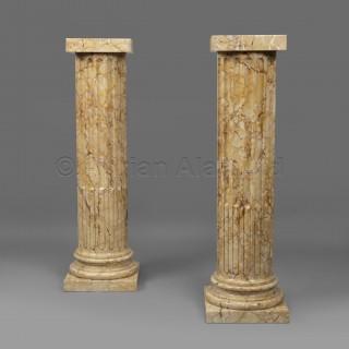 A Pair of Napoléon III Style Marmor Giallo Marble Columns