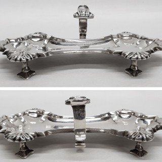 Antique Silver Snuffer Tray