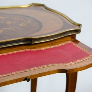 Pair of Louis XV Style Inlaid Side Tables